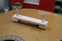 blackwater river guitars tools bridge clamping jig. Black Bedroom Furniture Sets. Home Design Ideas