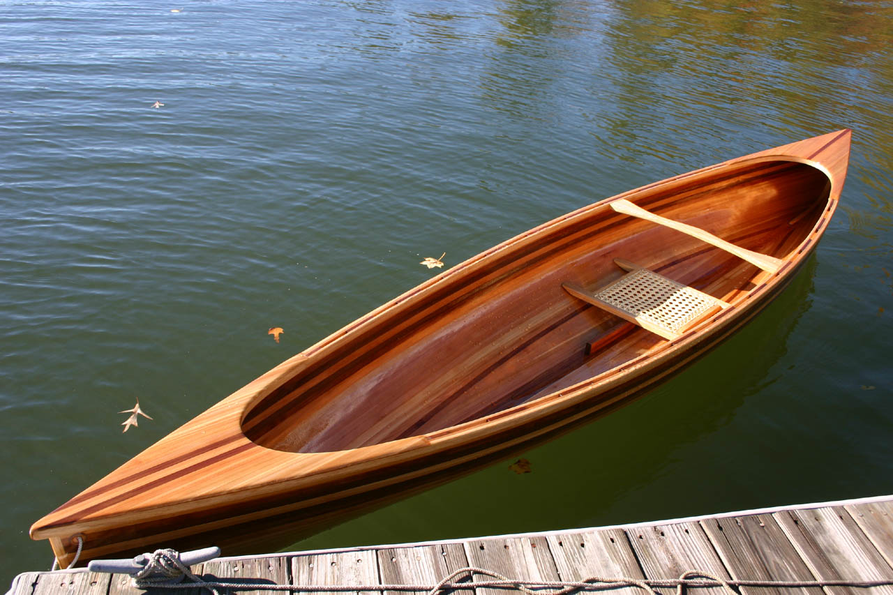 Redwood Strip Canoe - by snakerake @ LumberJocks.com